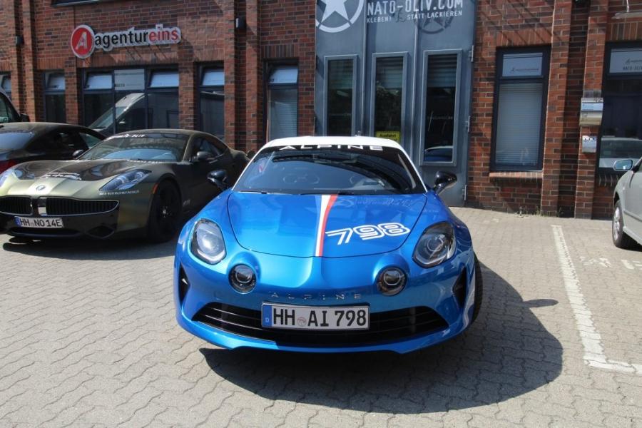 Alpine 798 Premium Edition Rallyestreifen Hamburg
