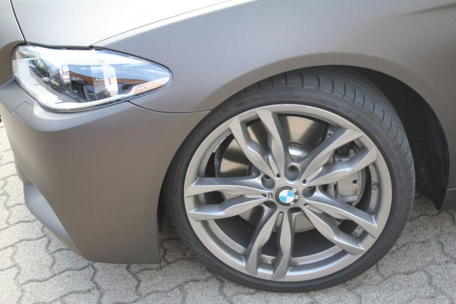BMW 5er Touring Car Wrapping braun matt metallic Hamburg