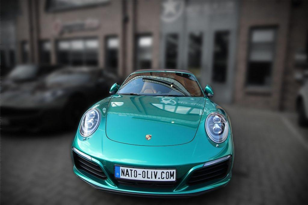 Porsche Hamburg Auto-Folie Fahrzeug