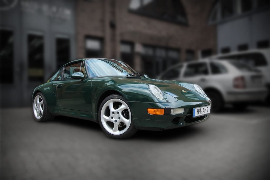 Porsche 993 Cabrio British Racing Green Premium Folierung Hamburg