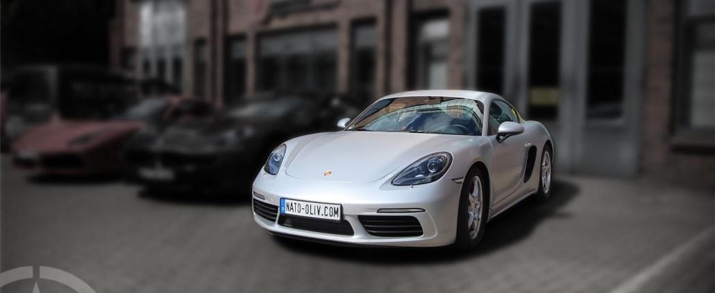 Porsche Cayman 3M Satin-White-Alu Premium Car Wrapping Hamburg
