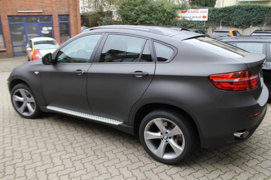 BMW X6 schwarz-braun matt metallic Autofolie Hamburg