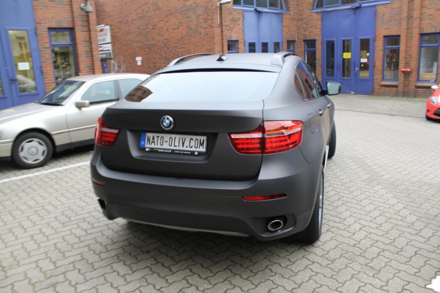 BMW X6 schwarz-braun matt metallic Car Wrap Hamburg