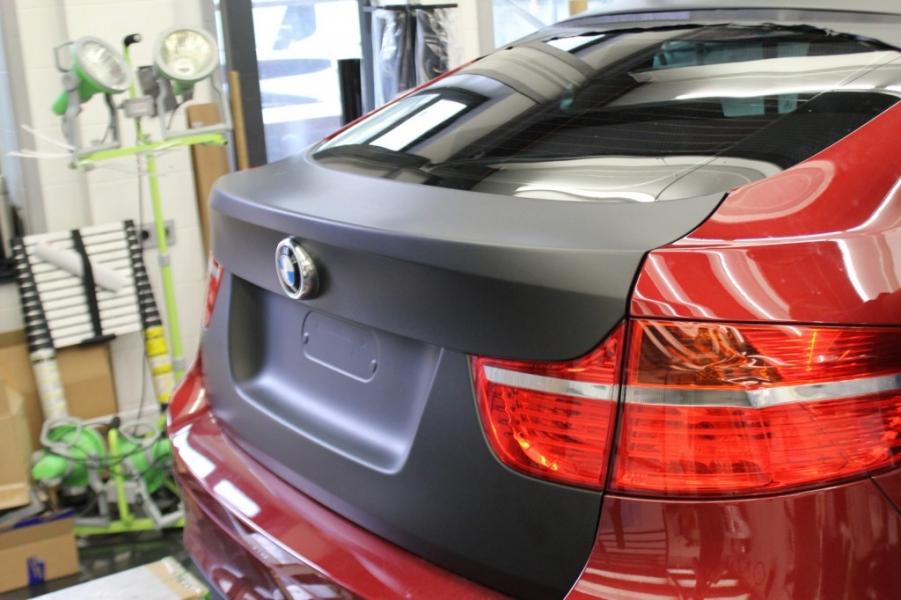 BMW X6 schwarz matt Teilfolierung Hamburg