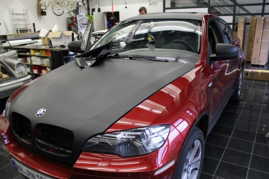 BMW X6 schwarz matt Nato Oliv Hamburg
