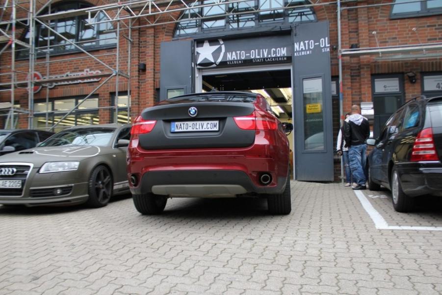BMW X6 Heckklappe schwarz matt Folierung Hamburg