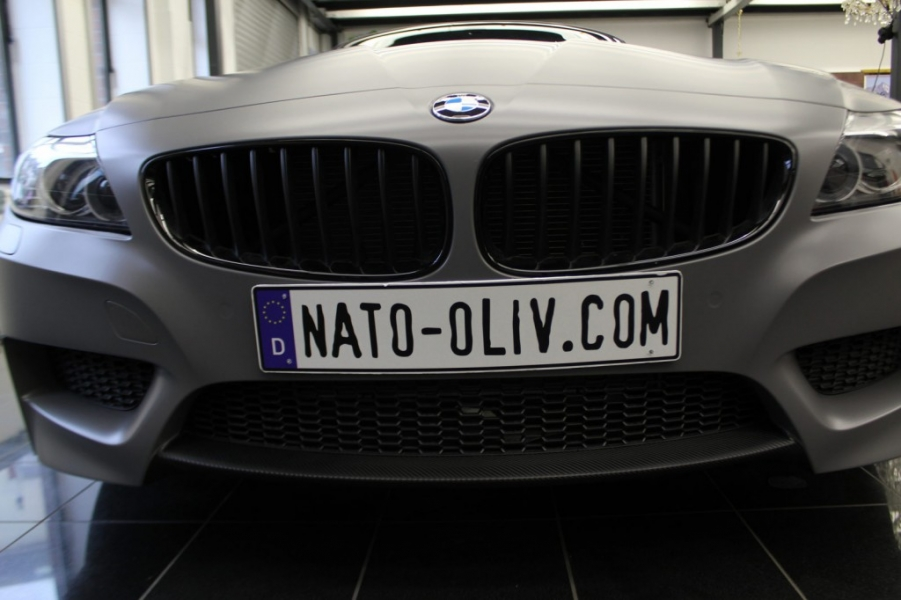 BMW Z4 dunkelgrau seidenmatt Folierung Hamburg