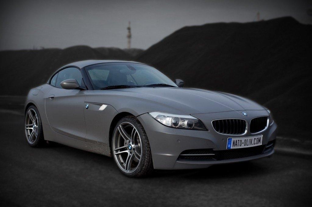 BMW Z4 Premium Folierung dunkelgrau seidenmatt Hamburg
