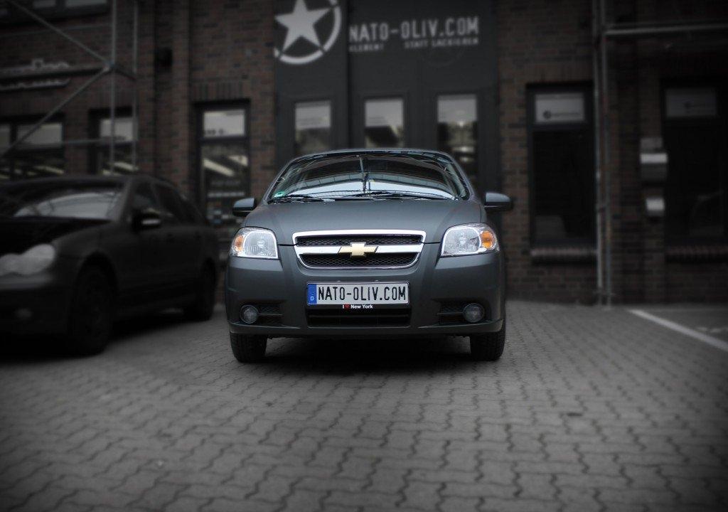 Chevrolet Aveo schwarz matt Premium Folierung Hamburg