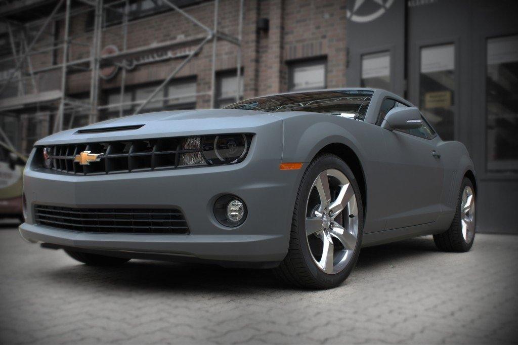 Chevrolet Camaro Premium Folierung Rallygrey Matt Hamburg