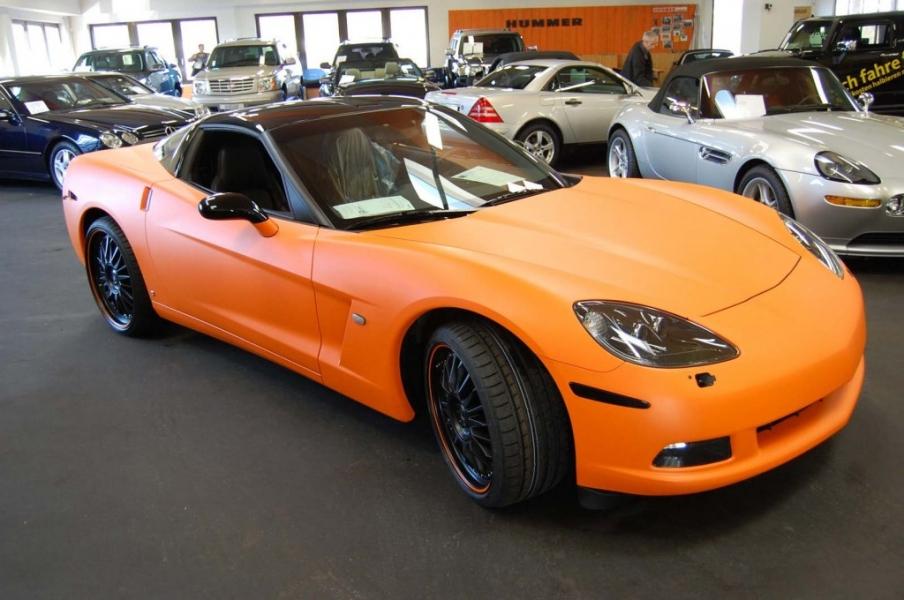 Corvette Qualitätsfolierung Orange matt Autohaus