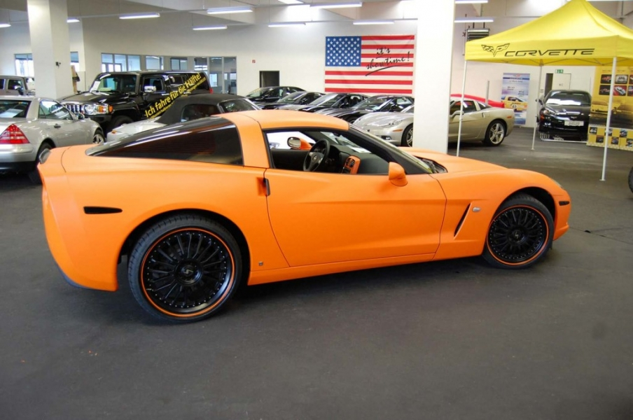 Corvette Folierung Orange matt Hamburg