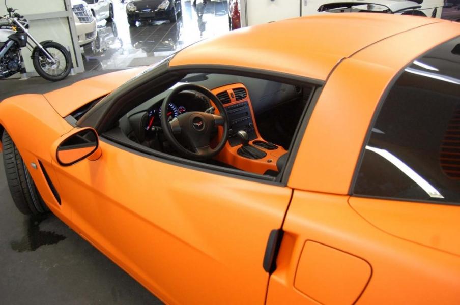 Corvette Folierung Orange matt Interieur