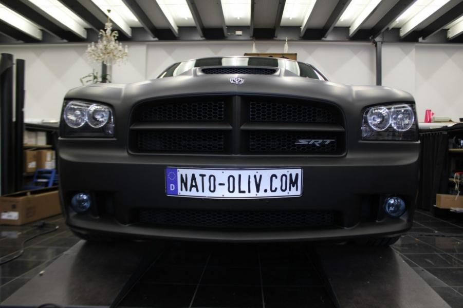 Dodge Charger schwarz matt Auto Beklebung Hamburg