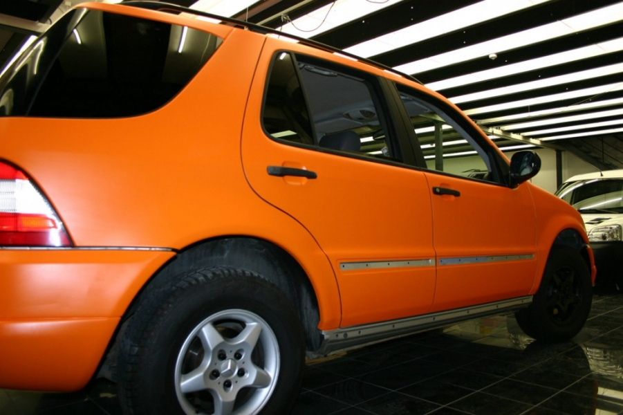 Mercedes ML orange matt Car Wrapping Hamburg