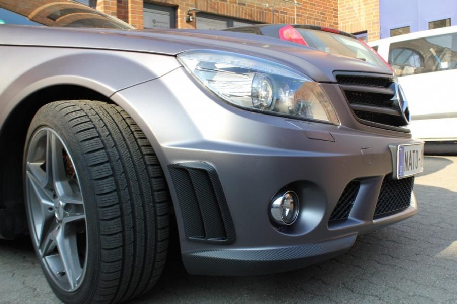 Mercedes C63 AMG dunkelgrau Matt Metallic Vollfolierung Hamburg