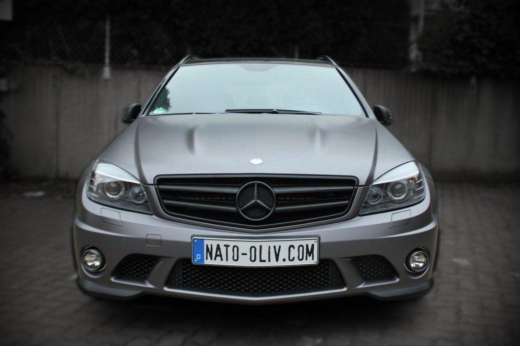 Mercedes C63 AMG Anthrazit Matt Metallic Premium Folierung Hamburg