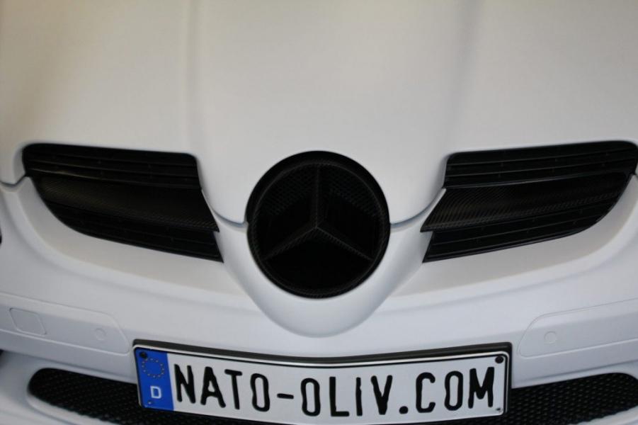 Mercedes SLK Grill schwarz matt foliert in Hamburg