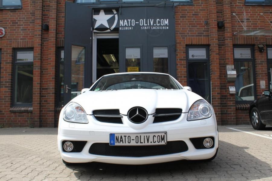 Mercedes SLK Autofolie weiss matt Hamburg
