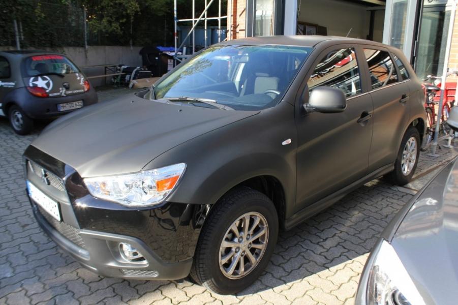 Mitsubishi ASX schwarz matt Auto foliert Hamburg