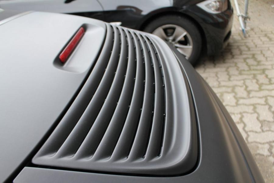 Porsche Cabrio Folierung Heckspoiler Schwarz matt Hamburg