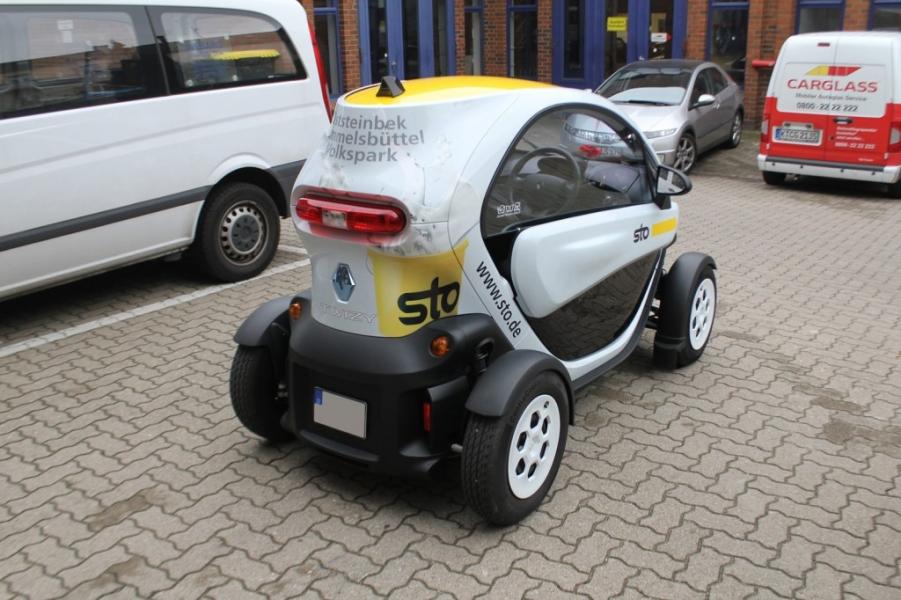 Werbefolierung Renault Twizy Sto Nato Oliv Hamburg