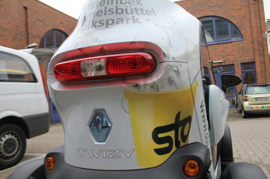 Werbefolierung Renault Twizy Sto Hamburg
