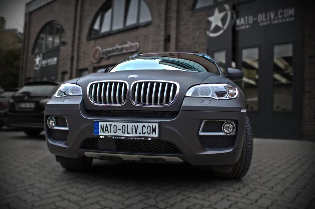 BMW X6 FOLIERUNG SCHWARZ BRAUN MATT METALLIC Frontal