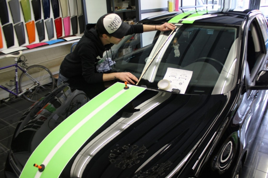 VW GOLF Viper Stripes Poison green Hamburg