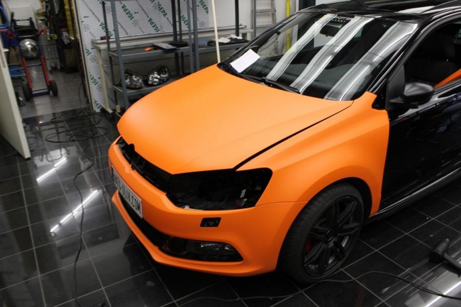 VW Polo GTI Folierung Orange Matt