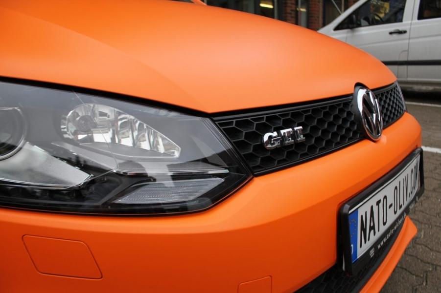 VolksWagen Polo GTI Premium Folierung Orange Matt