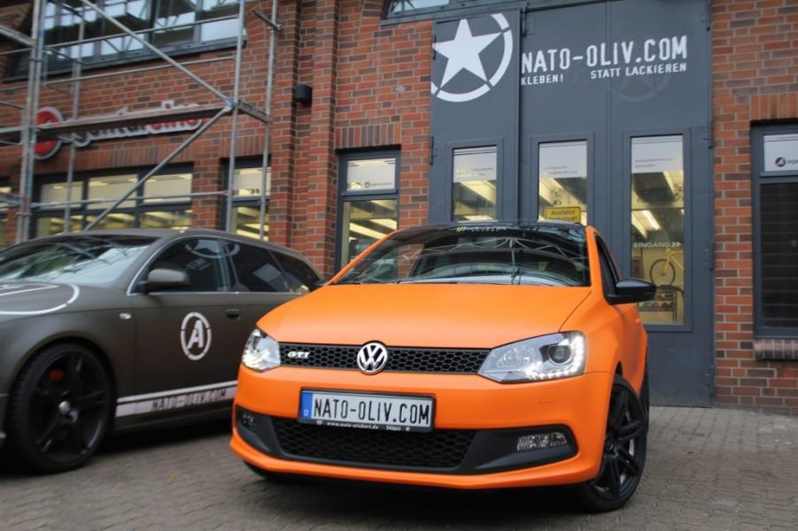 Volkswagen Polo GTI Folierung Orange Matt